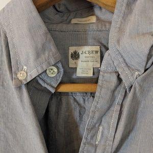 J. Crew Shirts - Blue pinstripe Fitted Button Down Dress Shirt sz S